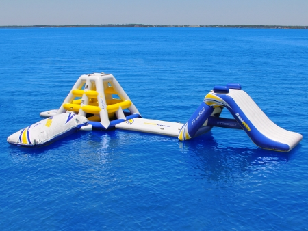 Aquaglide Water Park with Climber, Launch and Slide