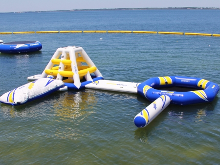 Aquaglide Water Park with Climber, Lounge, Launch and Log
